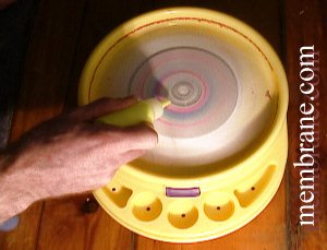 Spin Art Centrifugal Force